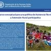 Nota de Políticas: Marco conceptual para una política de Asistencia Técnica y Extensión Rural participativa