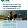 Cinco áreas esenciales para  movilizar el potencial de los  servicios de asesoría rural